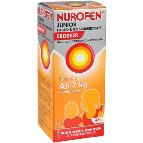 NUROFEN Junior Fieber-u.Schmerzsaft Erdbe.40mg/ml