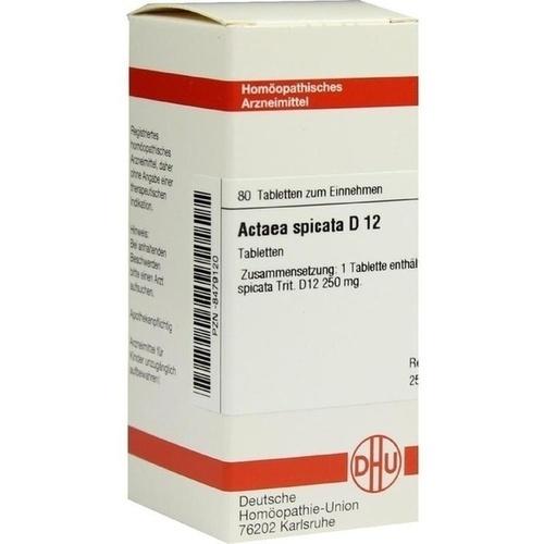 ACTAEA SPICATA D 12 Tabletten