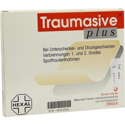 TRAUMASIVE plus 10x10 cm Hydrokoll. steril