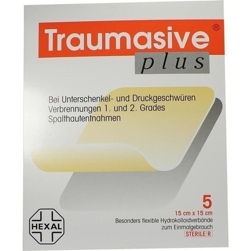 TRAUMASIVE plus 15x15 cm Hydrokoll. steril