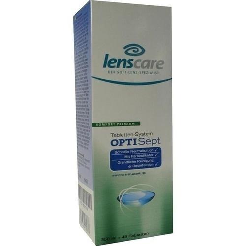 LENSCARE OptiSept Kombip.350 ml+45 Tabl.+1 Beh.