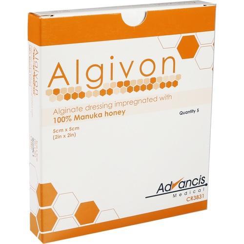 ALGIVON Honig Wundauflage 5x5 cm