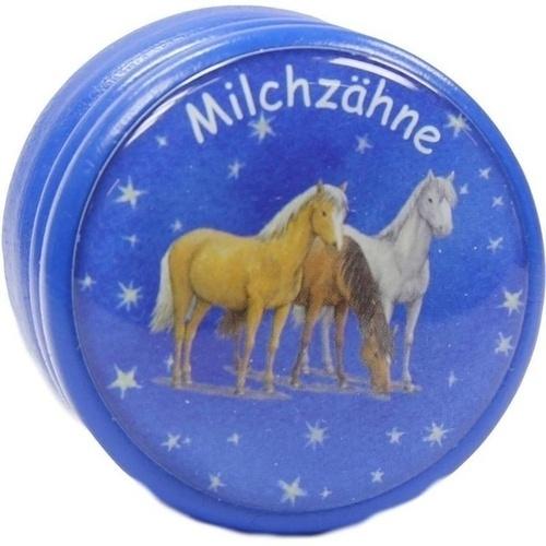 MILCHZAHNDOSE Traumpferdchen blau m.Schraubversch. 1 St