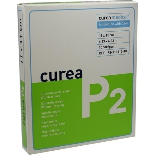CUREA P2 superabsorb.Wundverband 11x11 cm
