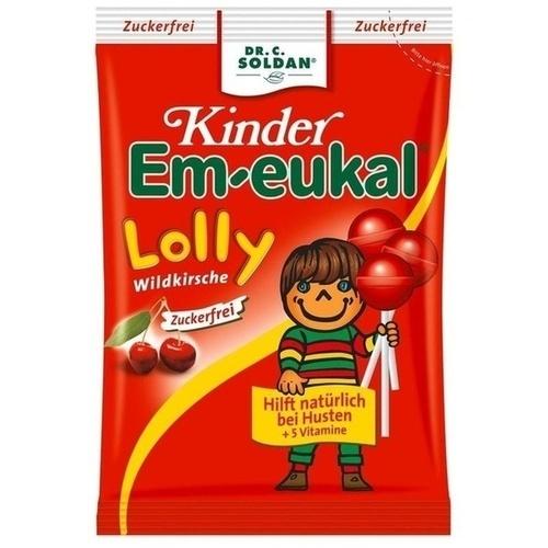EM EUKAL Kinder Lolly Wildkirsche zuckerfrei