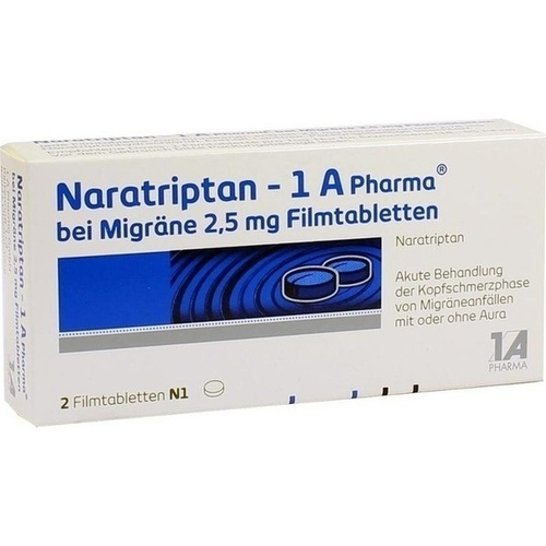 NARATRIPTAN-1A Pharma bei Migräne 2,5 mg Filmtabl.