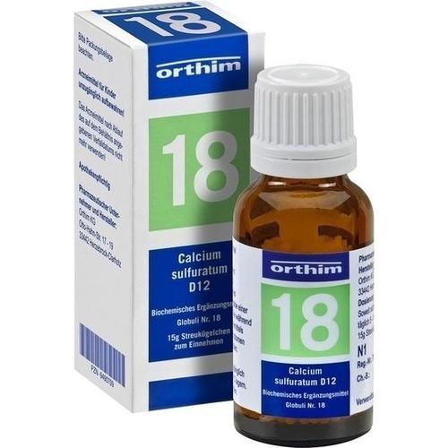 BIOCHEMIE Globuli 18 Calcium sulfuratum D 12