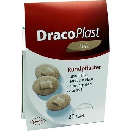 DRACOPLAST Soft Pflaster 2,2 cm rund hautf.
