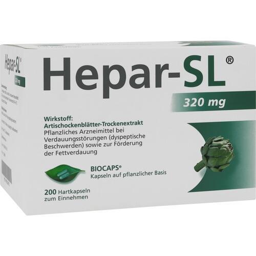 MCM Klosterfrau Vertriebsgesellschaft GmbH HEPAR SL 320 mg Hartkapseln 200 St 558965