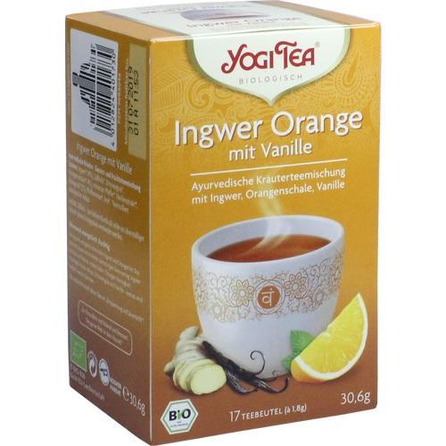 YOGI TEA Ingwer Orange+Vanille Bio Filterbeutel