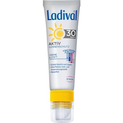 LADIVAL Aktiv Sonnenschutz f.Gesicht u.Lipp. LSF30