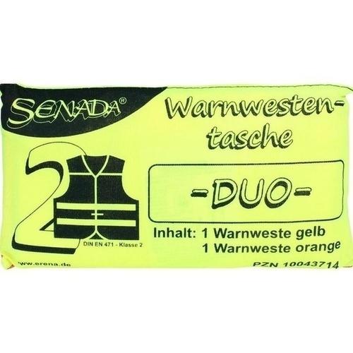 SENADA Warnweste gelb und orange Duo Tasche