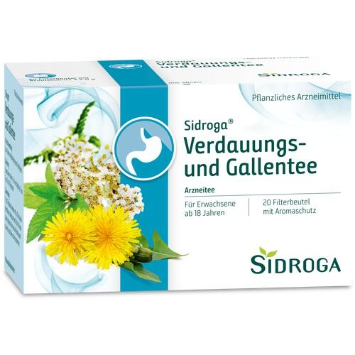 SIDROGA Verdauungs- und Gallentee Filterbeutel