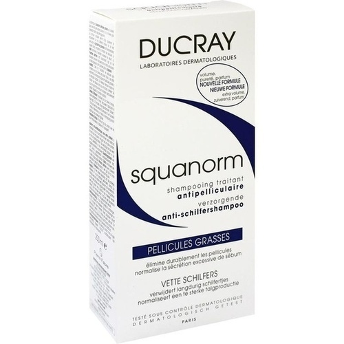 ducray squanorm fettige schuppen shampoo 200 ml shampoo. Black Bedroom Furniture Sets. Home Design Ideas
