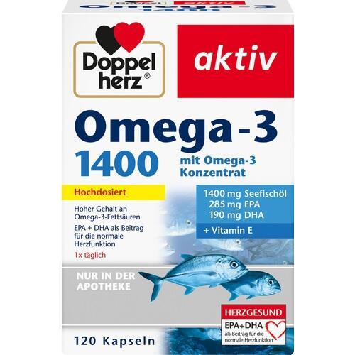 DOPPELHERZ Omega-3 1.400 Kapseln