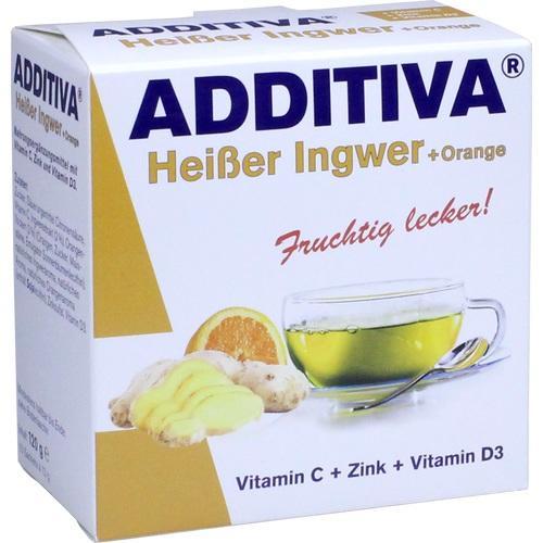 ADDITIVA heißer Ingwer+Orange Pulver