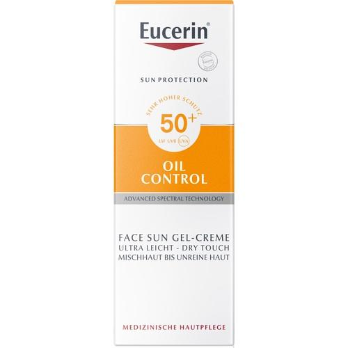 EUCERIN Sun Gel-Creme Oil Contr.Anti-Gl.Eff.LSF50+