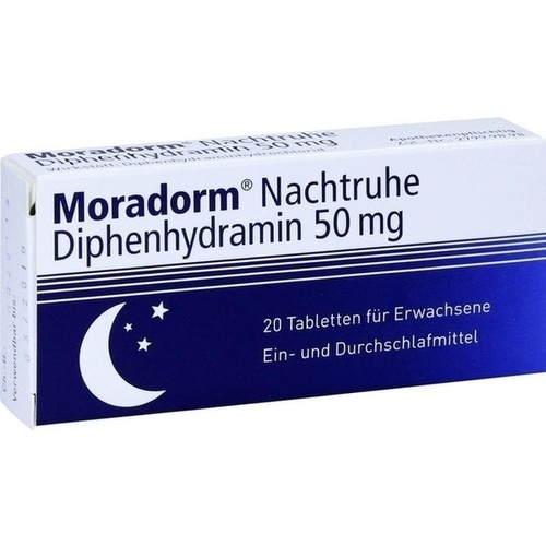 MORADORM Nachtruhe Diphenhydramin 50 mg Tabletten 20 St.