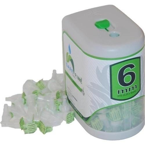 SAFE FINE Insulinpen-Nadeln 6 mm 31 G inkl.Box 100 St