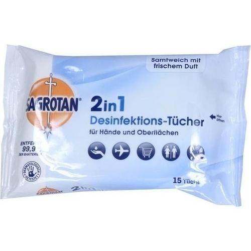 SAGROTAN 2in1 Desinfektions-Tücher