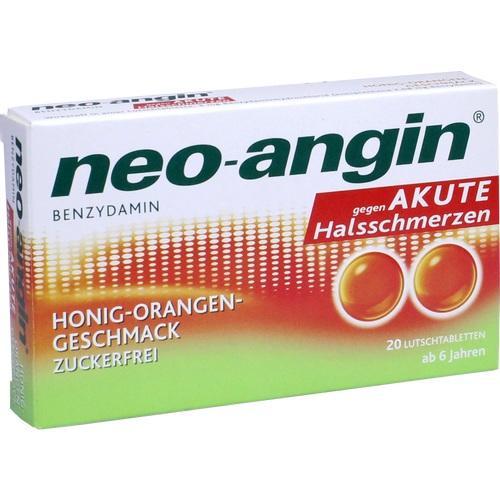 NEO-ANGIN Benzydamin akute Halsschmerz. Honig-Oran.