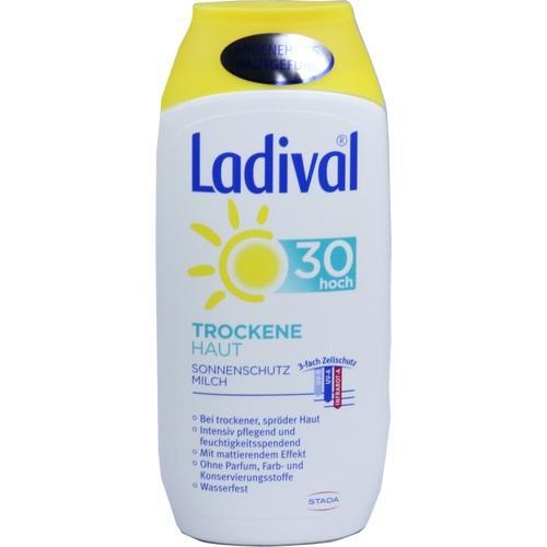 LADIVAL trockene Haut Milch LSF 30 Gratisprobe
