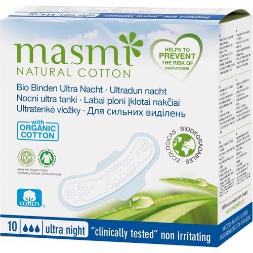 BIO BINDEN Ultra Nacht 100% Bio-Baumwolle MASMI