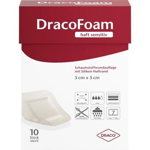 DRACOFOAM Haft sensitiv Schaumst.Wund.5x5 cm