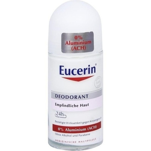 EUCERIN Deodorant Roll-on 0% Aluminium 24 h