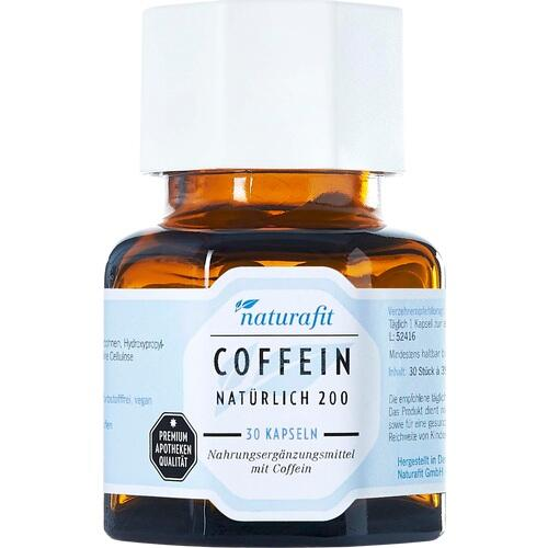 NATURAFIT Coffein nat 200 Kapseln