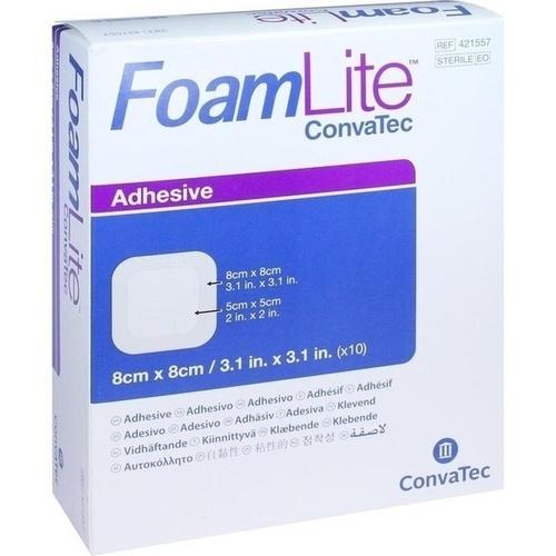 FOAM LITE ConvaTec adhäsiv PU-Schaumverb.8x8 cm