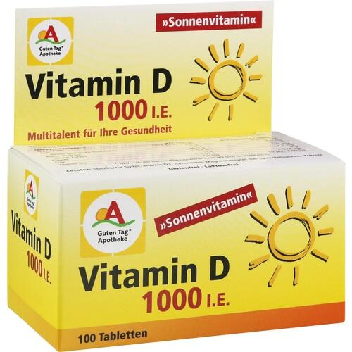 GUTEN TAG Apotheke Vitamin D 1000 I.E. Tabletten
