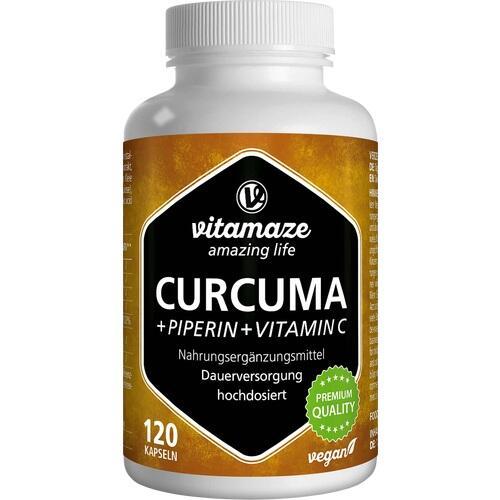 CURCUMA+PIPERIN+Vitamin C vegan Kapseln 120 St.