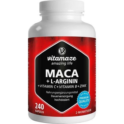 MACA 4:1 hochdosiert+L-Arginin Kapseln
