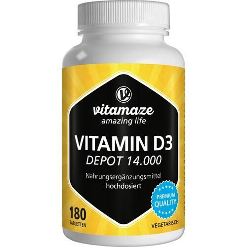 VITAMIN D3 14.000 I.E. Depot hochdosiert Tabletten 180 St.