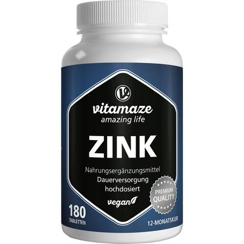 ZINK 25 mg hochdosiert vegan Tabletten