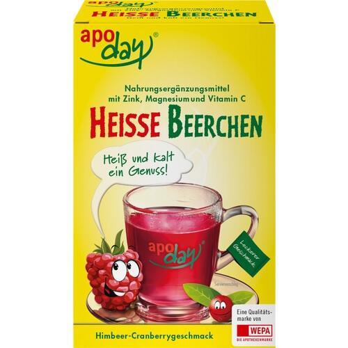APODAY heiße Beerchen+Vit.C+Zink+Magnesium Pulver