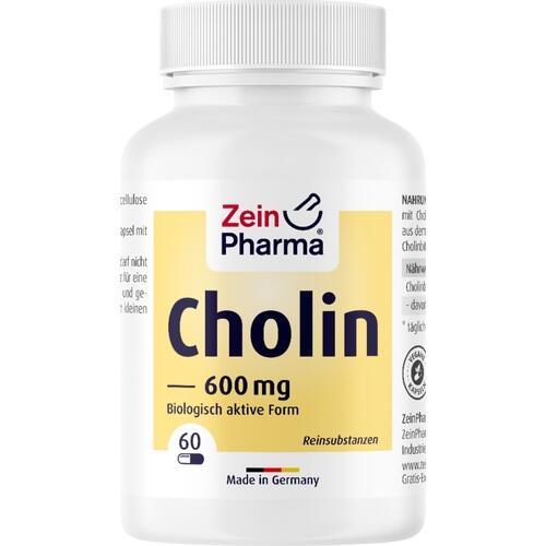 CHOLIN 600 mg rein aus Bitartrat veg.Kapseln