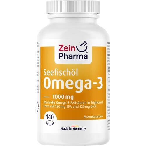 OMEGA-3 1000 mg Seefischöl Softgel-Kapseln hochdo.