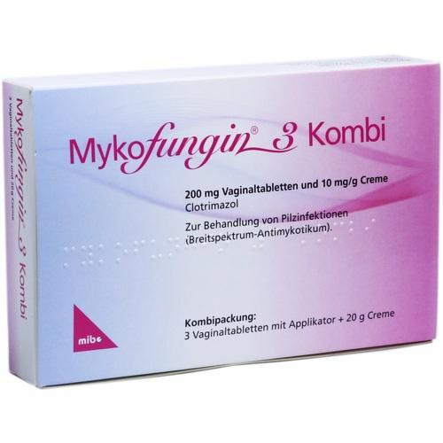 MYKOFUNGIN 3 Kombi 200 mg Vaginaltab.+10 mg/g Cre.