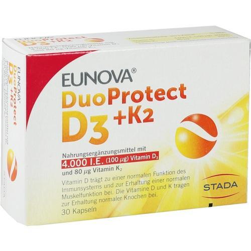 EUNOVA DuoProtect D3+K2 4000 I.E./80 μg Kapseln
