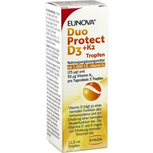 EUNOVA DuoProtect D3+K2 1000 I.E./50 μg Tropfen