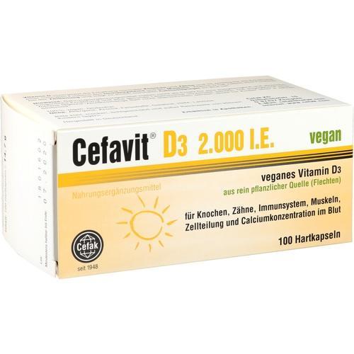 CEFAVIT D3 2.000 I.E. vegan Hartkapseln