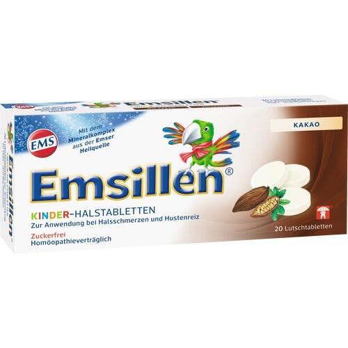 EMSILLEN Kinder-Halstabletten Kakao