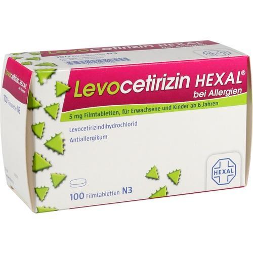 LEVOCETIRIZIN HEXAL bei Allergien 5 mg Filmtabl.