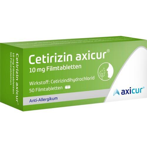 CETIRIZIN axicur 10 mg Filmtabletten