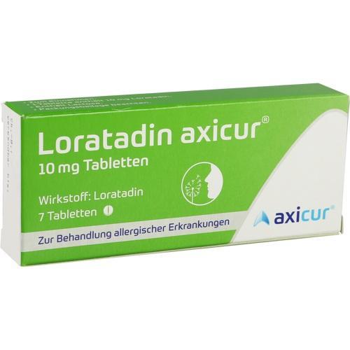 LORATADIN axicur 10 mg Tabletten