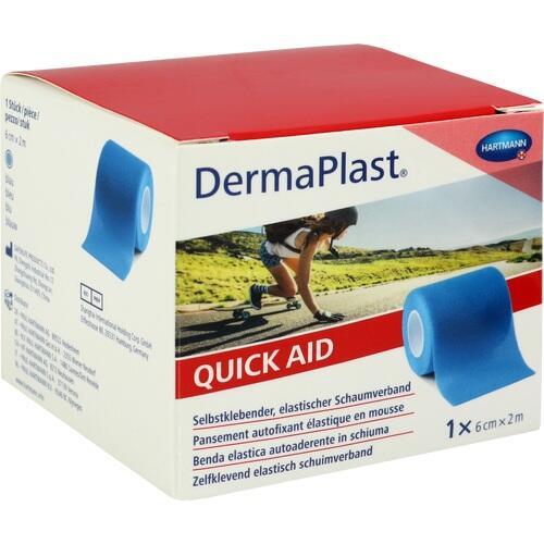 DERMAPLAST Quick Aid Schaumverb.6 cmx2 m blau