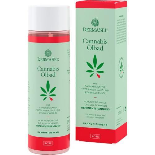 DERMASEL Cannabis Ölbad Rose limited edition