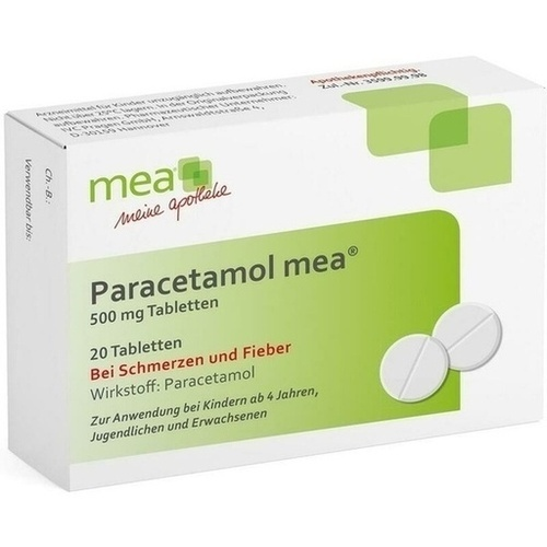 PARACETAMOL mea 500 mg Tabletten